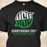 Jetzt bestellen! Das T-Shirt zum legendären Derbysieg – designed by Pioneer Gestalter
