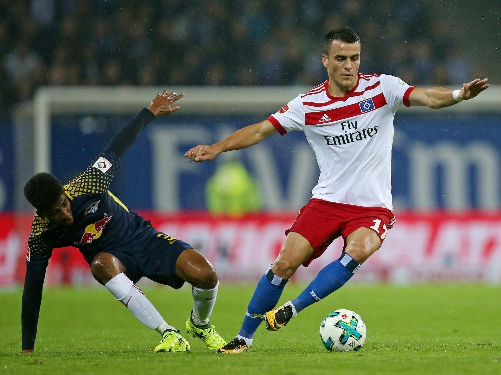 Beim Spiel gegen Leipzig gab es Übertragungsprobleme (Photo by PIXATHLON/PIXATHLON/SID/)