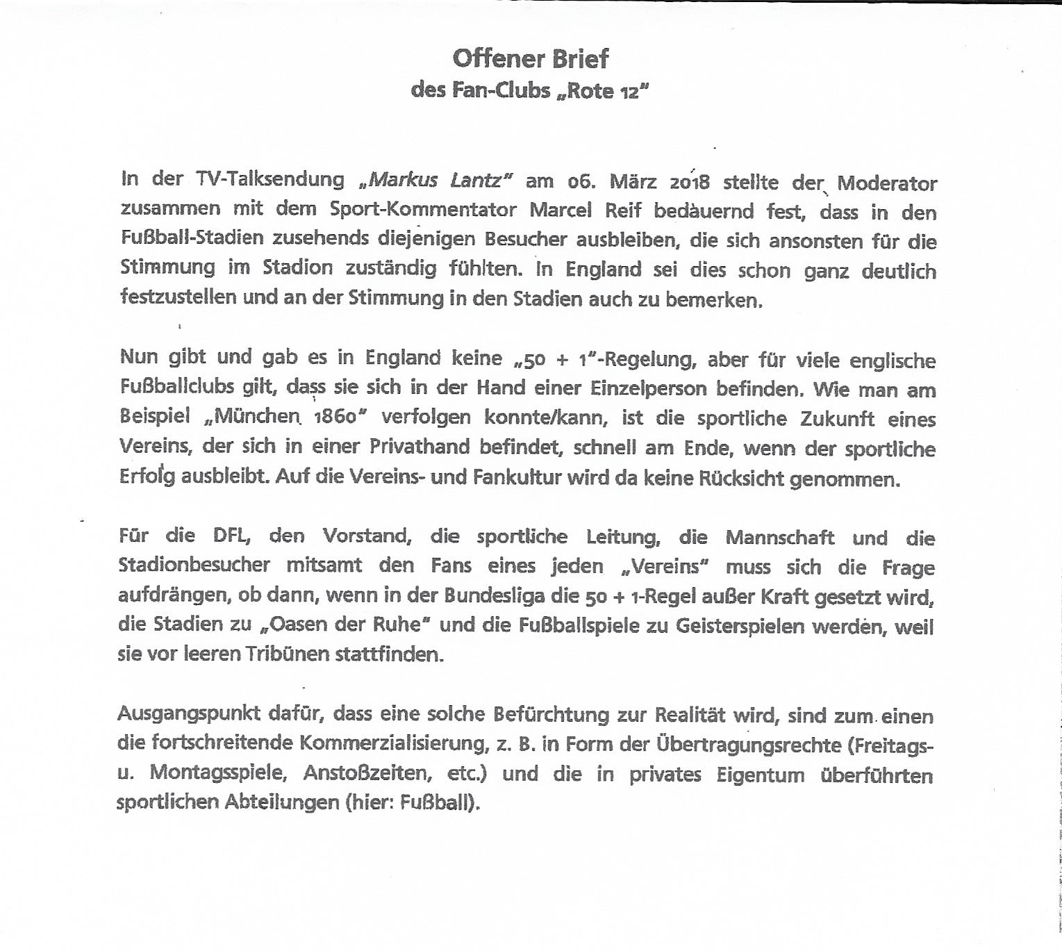 Offener Brief Rote 12