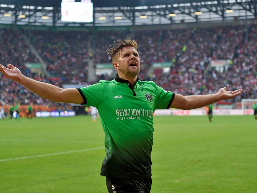 Niclas Füllkrug trifft in der Nachspielzeit zum 1:1 (Photo by PIXATHLON/PIXATHLON/SID/)