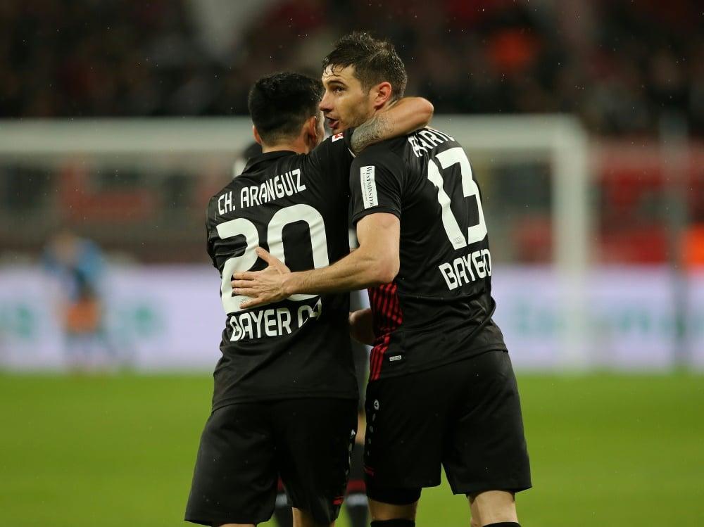 Leverkusen gewinnt, aber verpasst die Champions League (Photo by FIRO/FIRO/SID/)