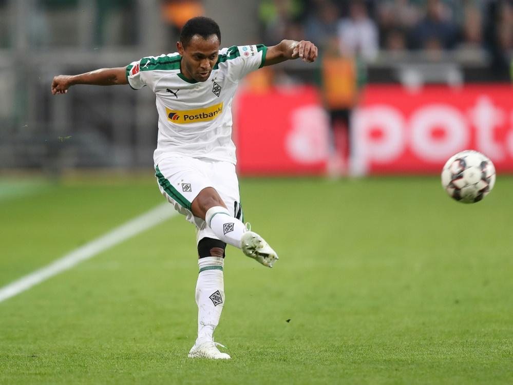 Raffael beschert Gladbach drei Punkte in Hannover (Photo by FIRO/FIRO/SID/)