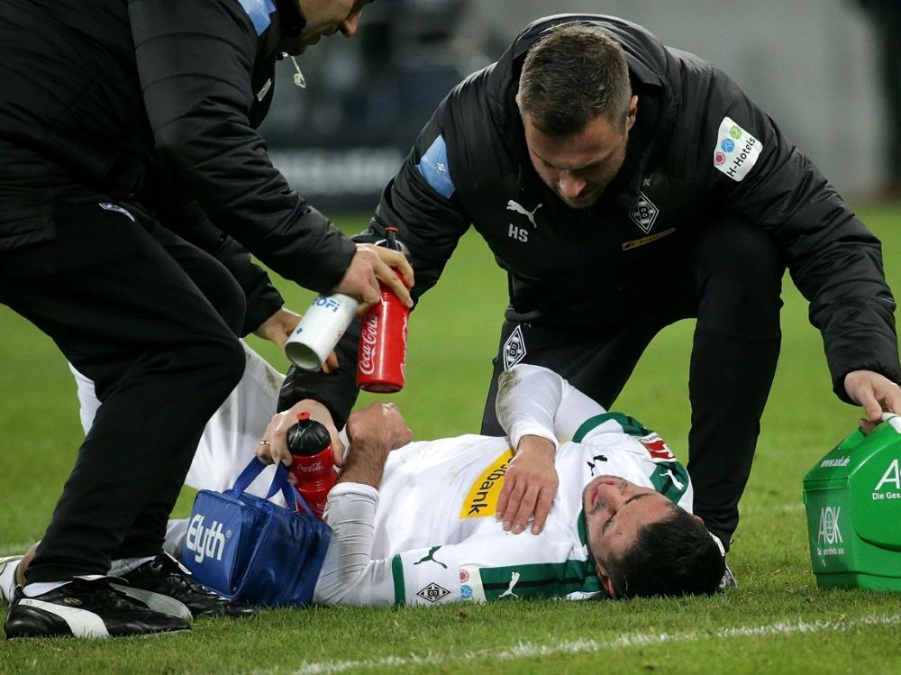 Verletzte sich gegen Hannover schwer: Lars Stindl (Photo by PIXATHLON/PIXATHLON/SID/)