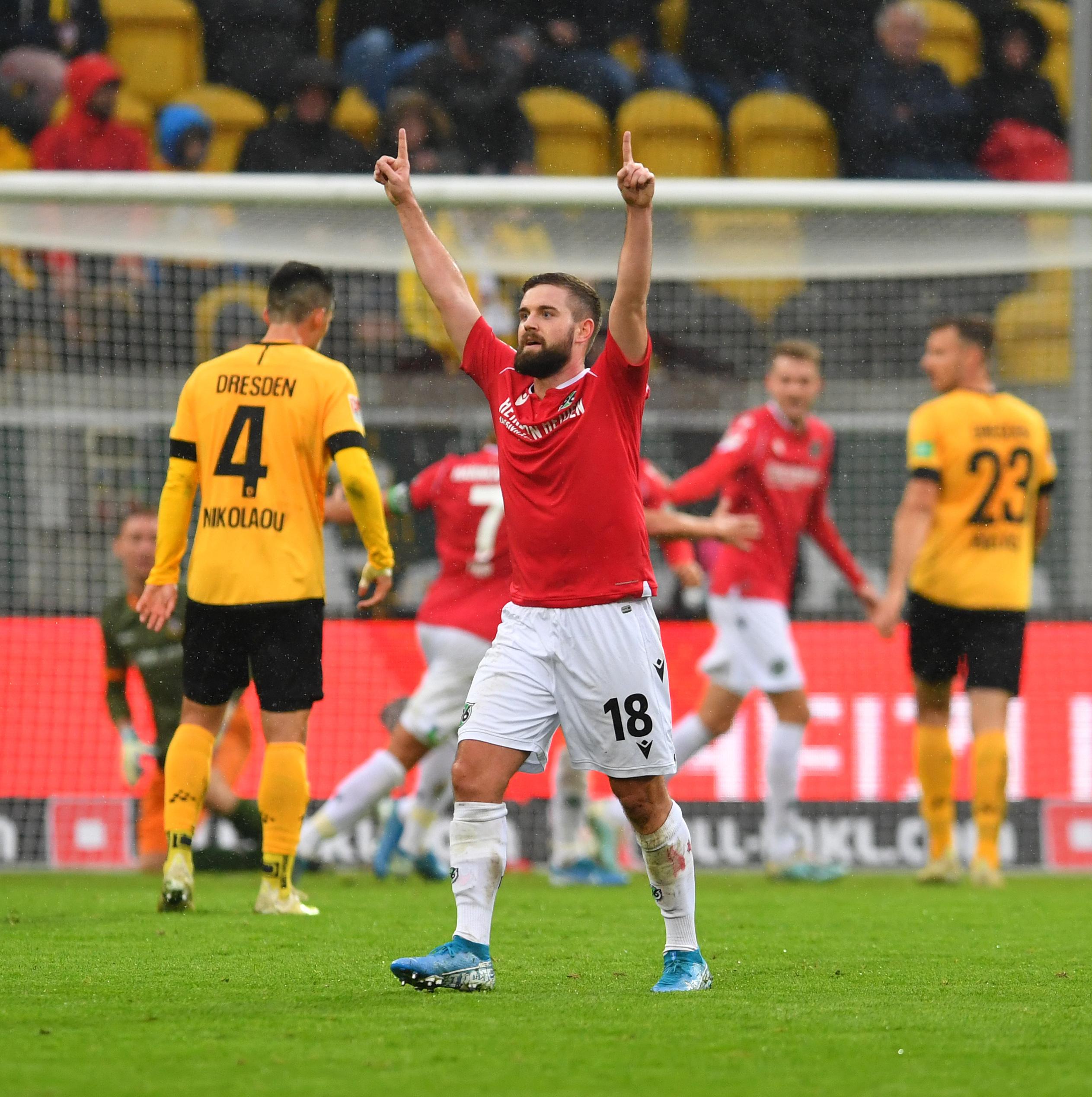 Tor zum 1:0, vorn jubelt Marc Stendera (18, Hannover), 05.10.2019, Fussball, GER, Saison 2019/2020, 2. Bundesliga, 9. Sp