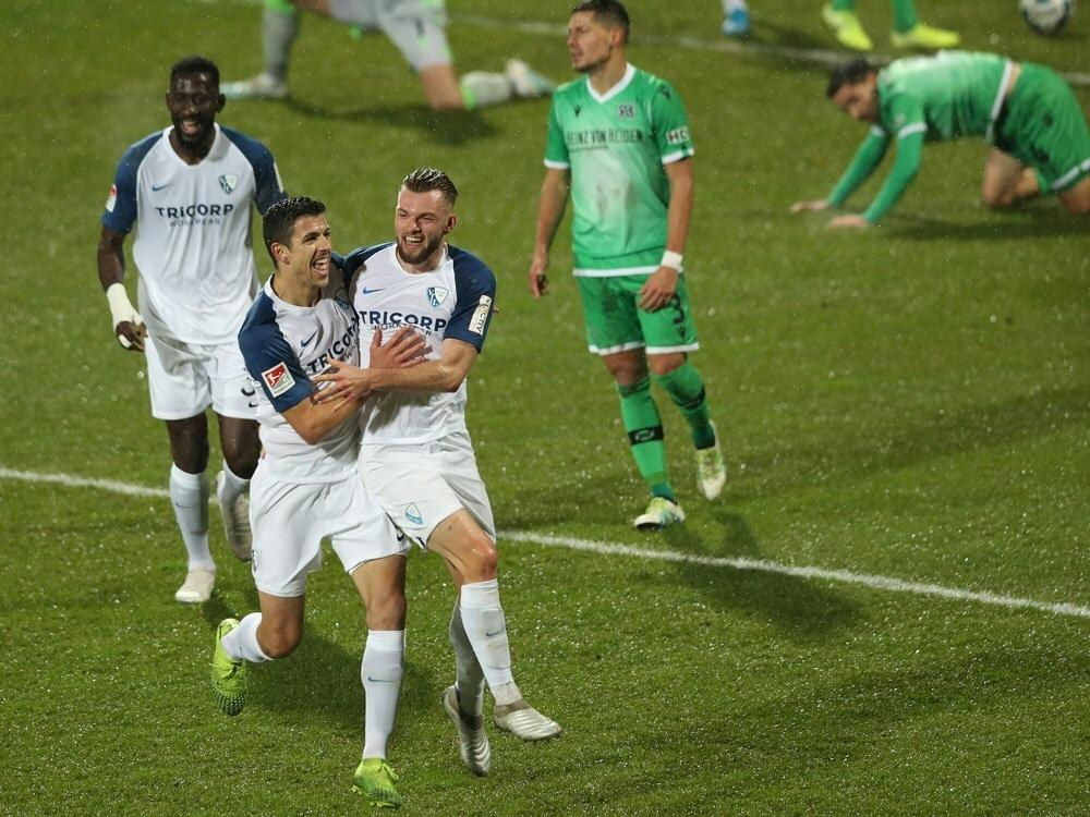 Der VfL Bochum schlägt Hannover 96 mit 2:1 (Photo by FIRO/FIRO/SID/)
