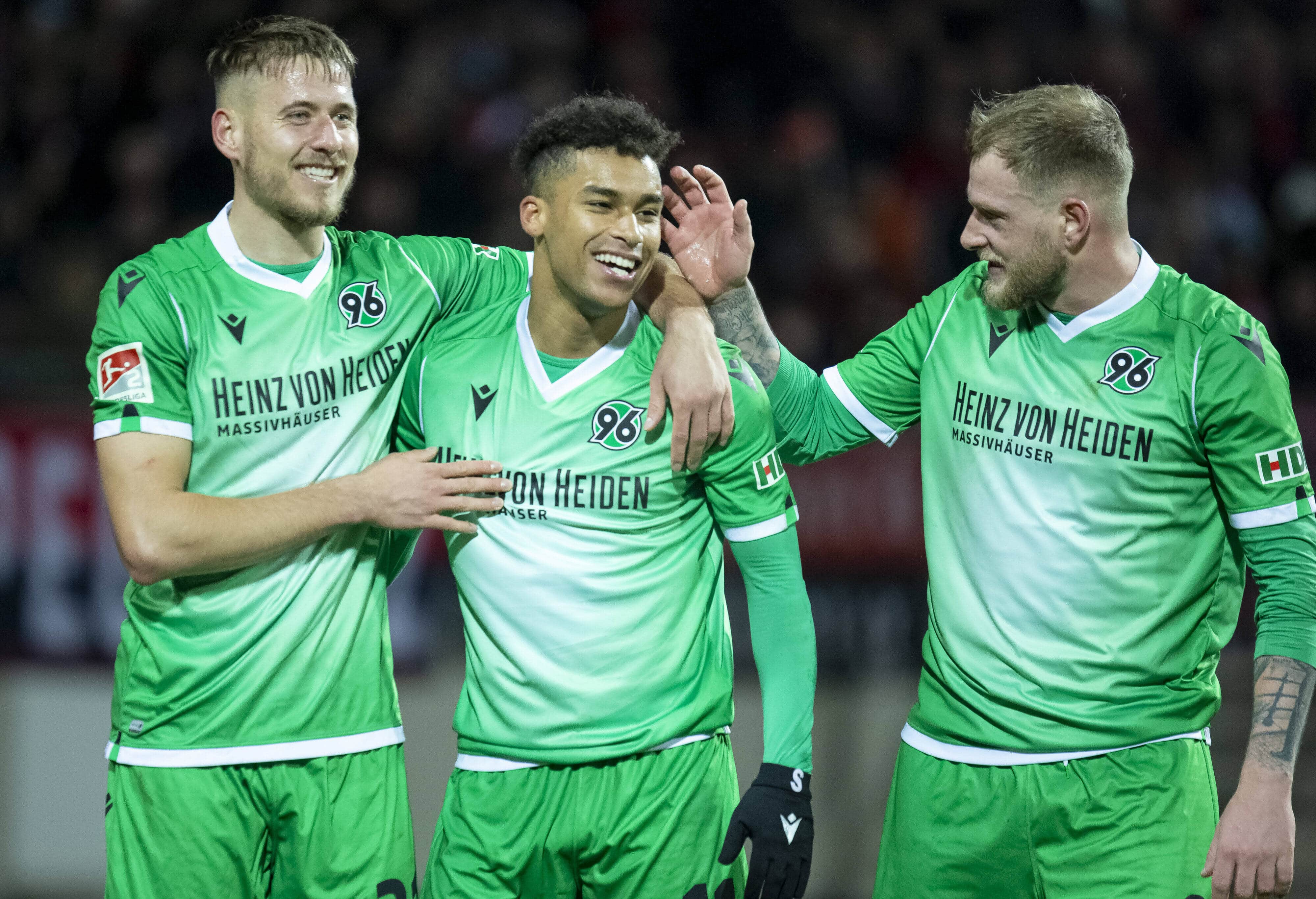 06.03.2020, xomx, Fussball 2.Bundesliga, 1. FC Nuernberg – Hannover 96 emspor, v.l. Tor, Goal, Jubel, Torjubel zum 0:2