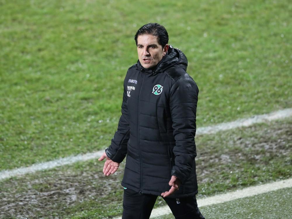 Kocak ist seit November 2019 Trainer von Hannover 96 (Photo by FIRO/FIRO/SID/)