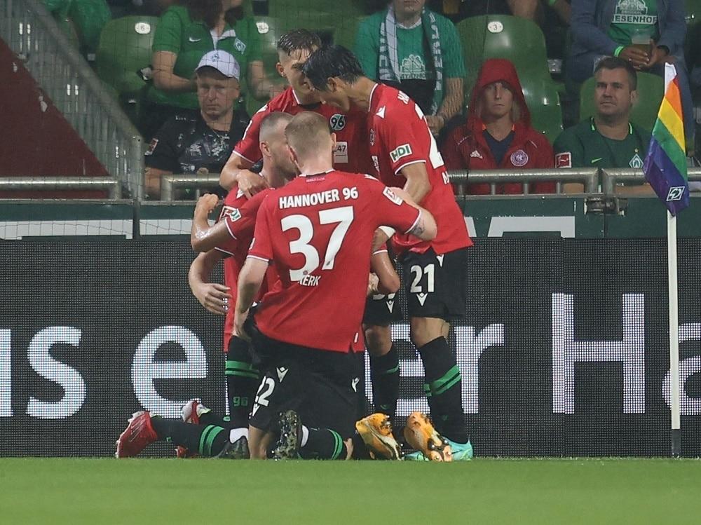 Hannover 96 ohne Probleme gegen Eintracht Norderstedt  (Photo by FIRO/FIRO/SID/)